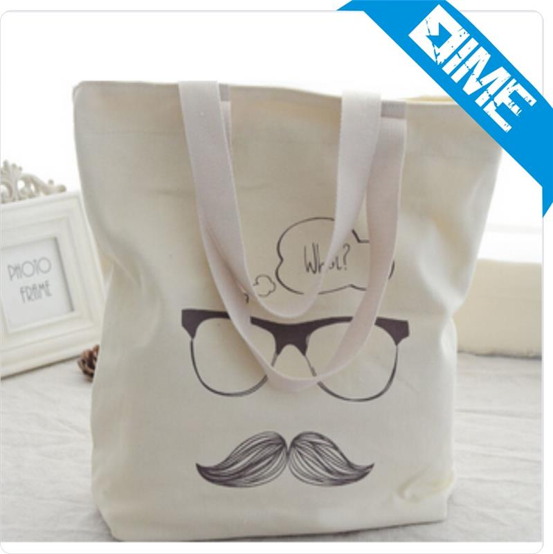 Printed Fashion Cotton Customized Canvas Shopping Utility Tote Bag Ladies Bag