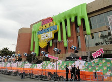 giant building decoration inflatable wall
