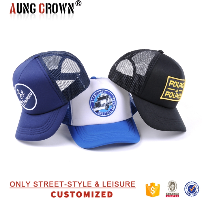 trucker cap 3d embroidery/cap with embroidery logo/adult custom trucker caps
