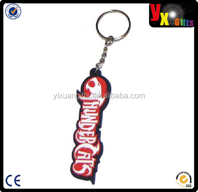 NEW THUNDERCATS LOGO PVC KEYRING RETRO TV METAL LOOP 80s CARTOON LIONO KEYCHAIN
