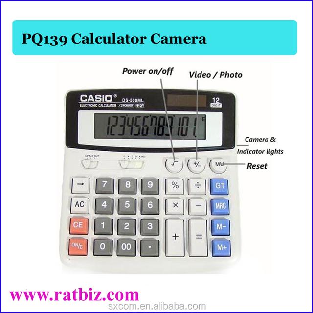 Calculator with Hidden Pinhole Audio Video Camera 720*480