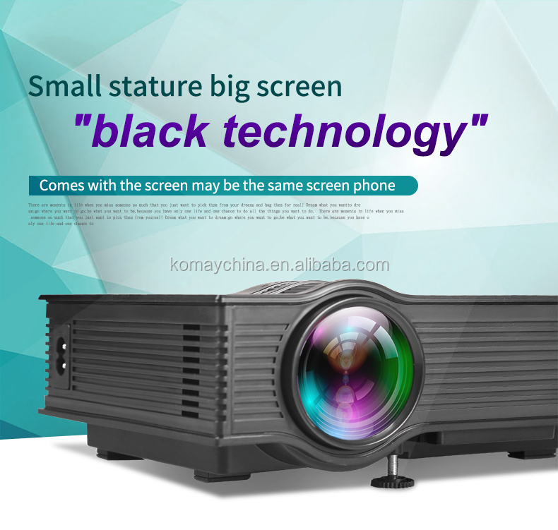 Komay hot selling cheapest business/home theater LCD projector UC40+