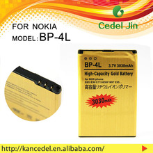 all model battery for mobile phone For nokia BP-4L 6650/6760S/6790/E52/E55/E61i 3030mAh gold battery