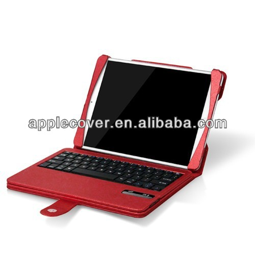 Wireless Bluetooth keyboard leather cover for apple iPad Air mix color