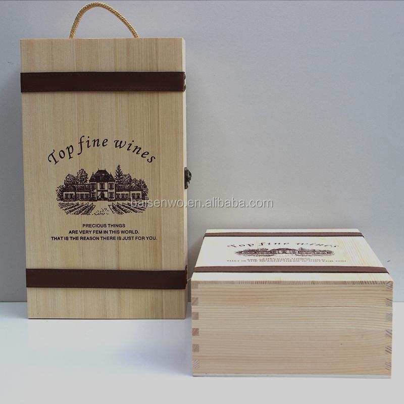 caja de vino caja de madera doble caja de vino de madera cajas de