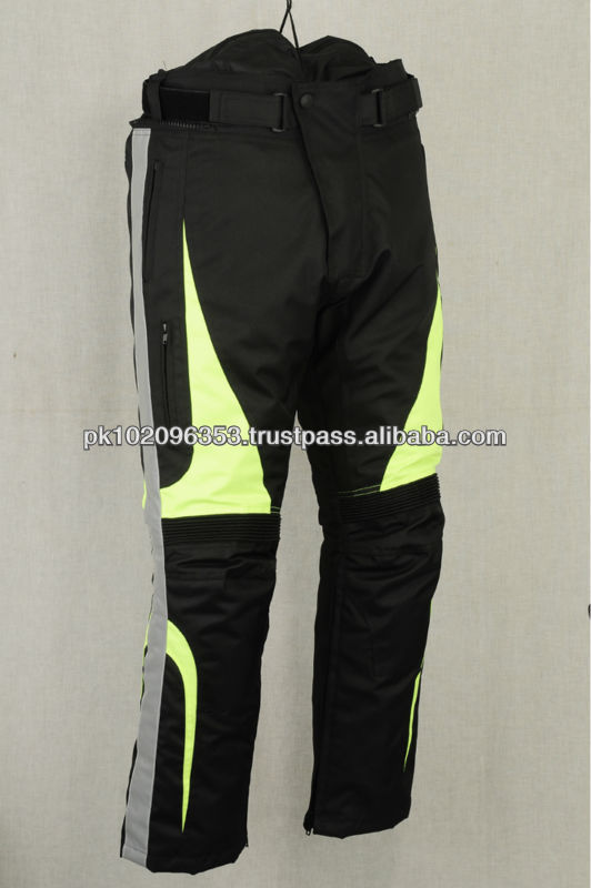 Motocross Dirt Bike MX Cordura Pant/Wear/Jersey/Kit with Leather protection Waterproof Cordura Pants Textile Motorbike Pant