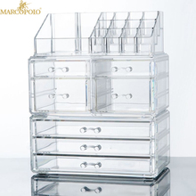 custom clear 5 tier acrylic makeup organizer for display