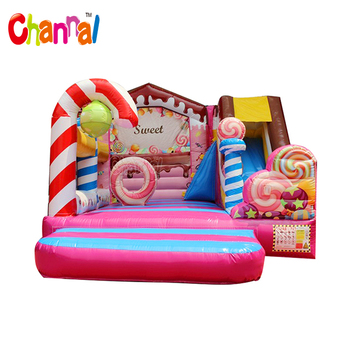 Sweet Candy Bouncy House Combo Inflatable Jumping Castle for Kids