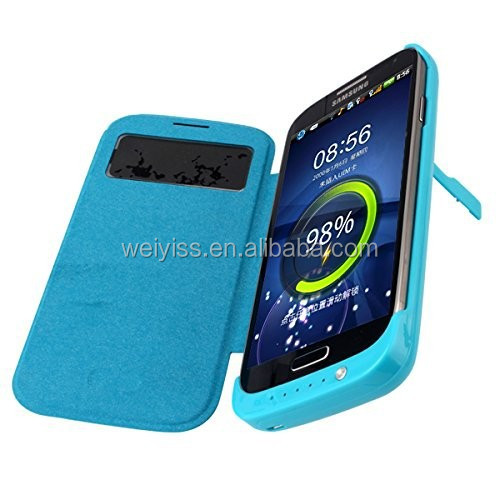 3200mah External Backup Battery Leather case for Samsung Galaxy S4, China manufacturers