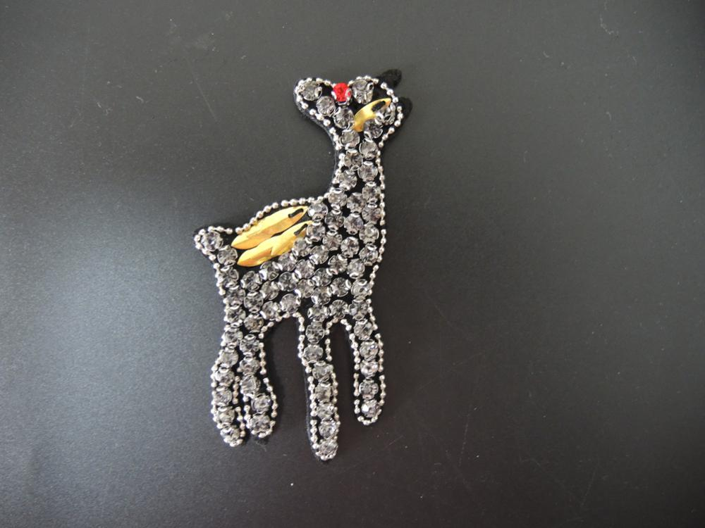 Hotsale sewing beads patch garment embroidery rhinestone patch