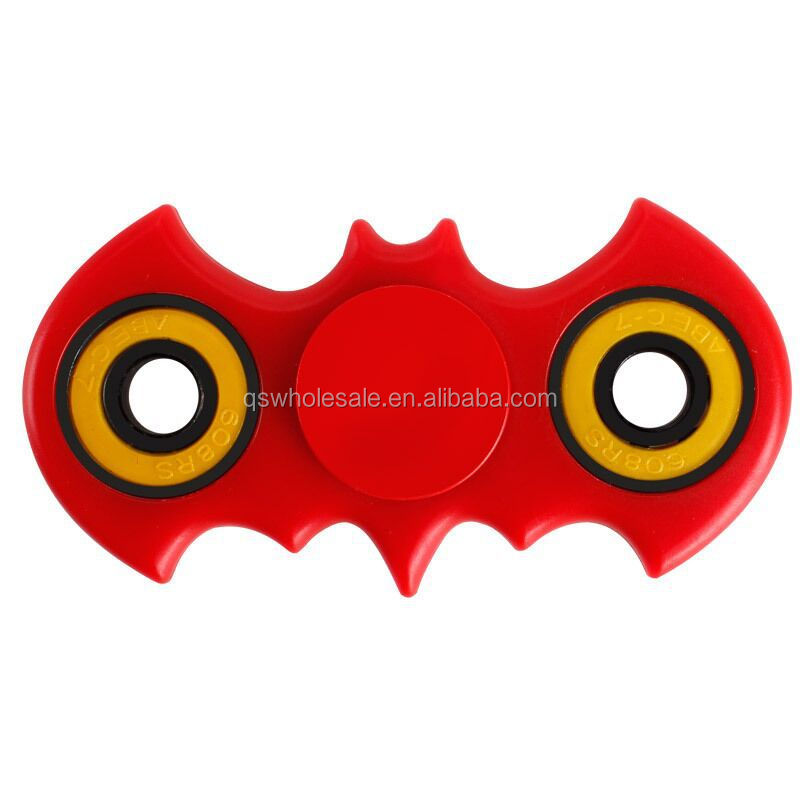 Stock ABS Fidget Spinner Space Bat Shape Finger Spinner