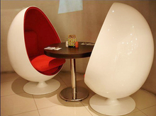 modern classic designer furniture/fiber glass pod chair