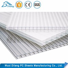 Transparent 8mm hollow twin wall Polycarbonate solar panel roofing Sheet