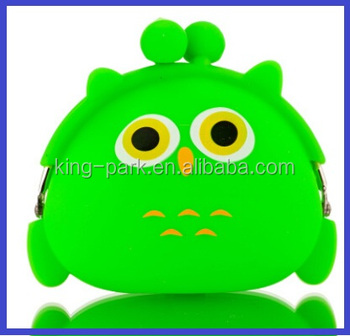 promotion cheap owl design silicone pouch