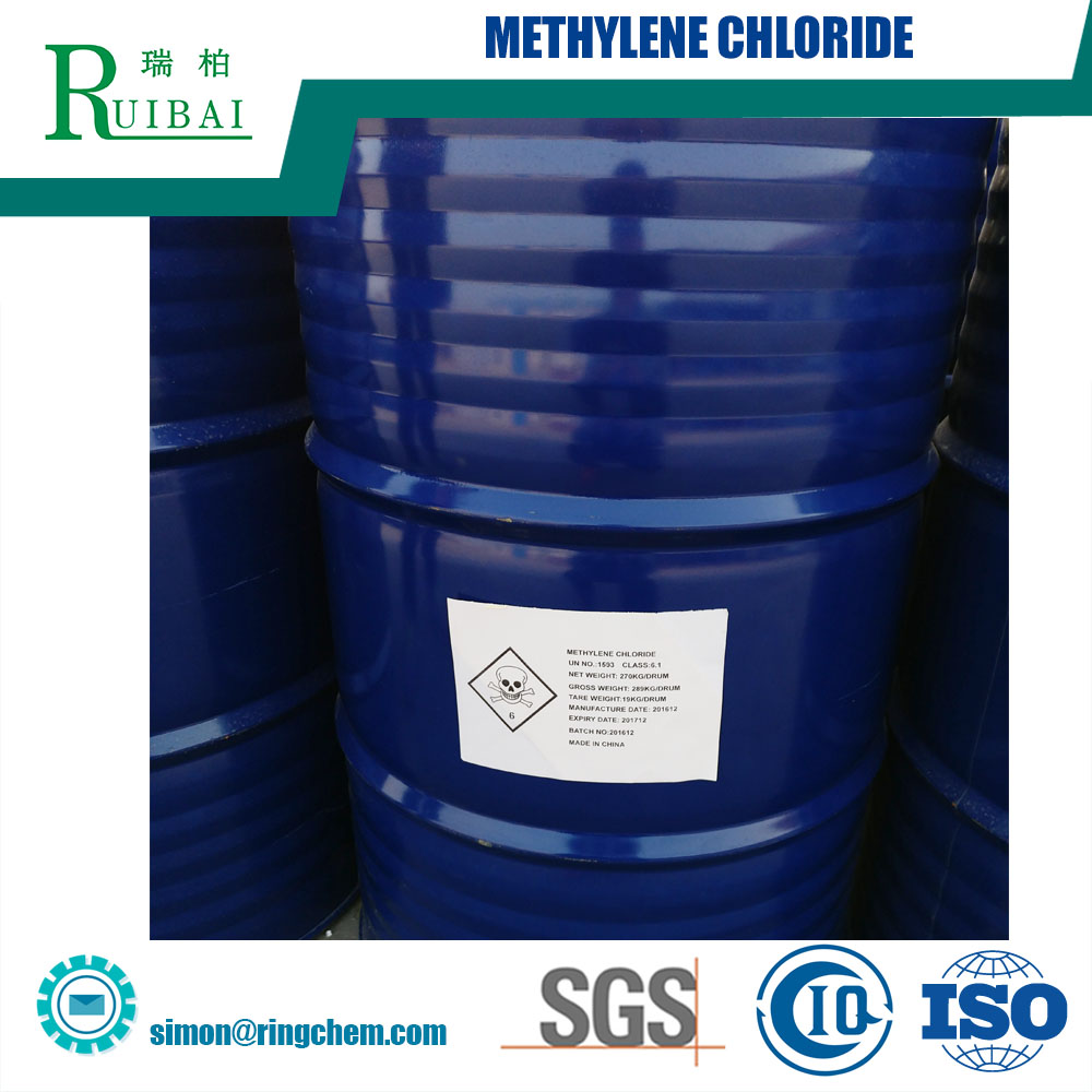 99.9% purity dichloromethane solvent used as leaching solvent, methylene chloride,CAS 75-09-2