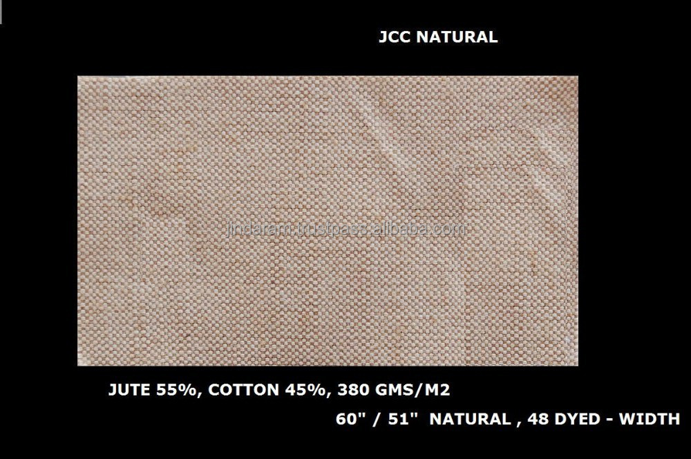 jute cotton canvas blend laminated jute fabric JUCO fabric