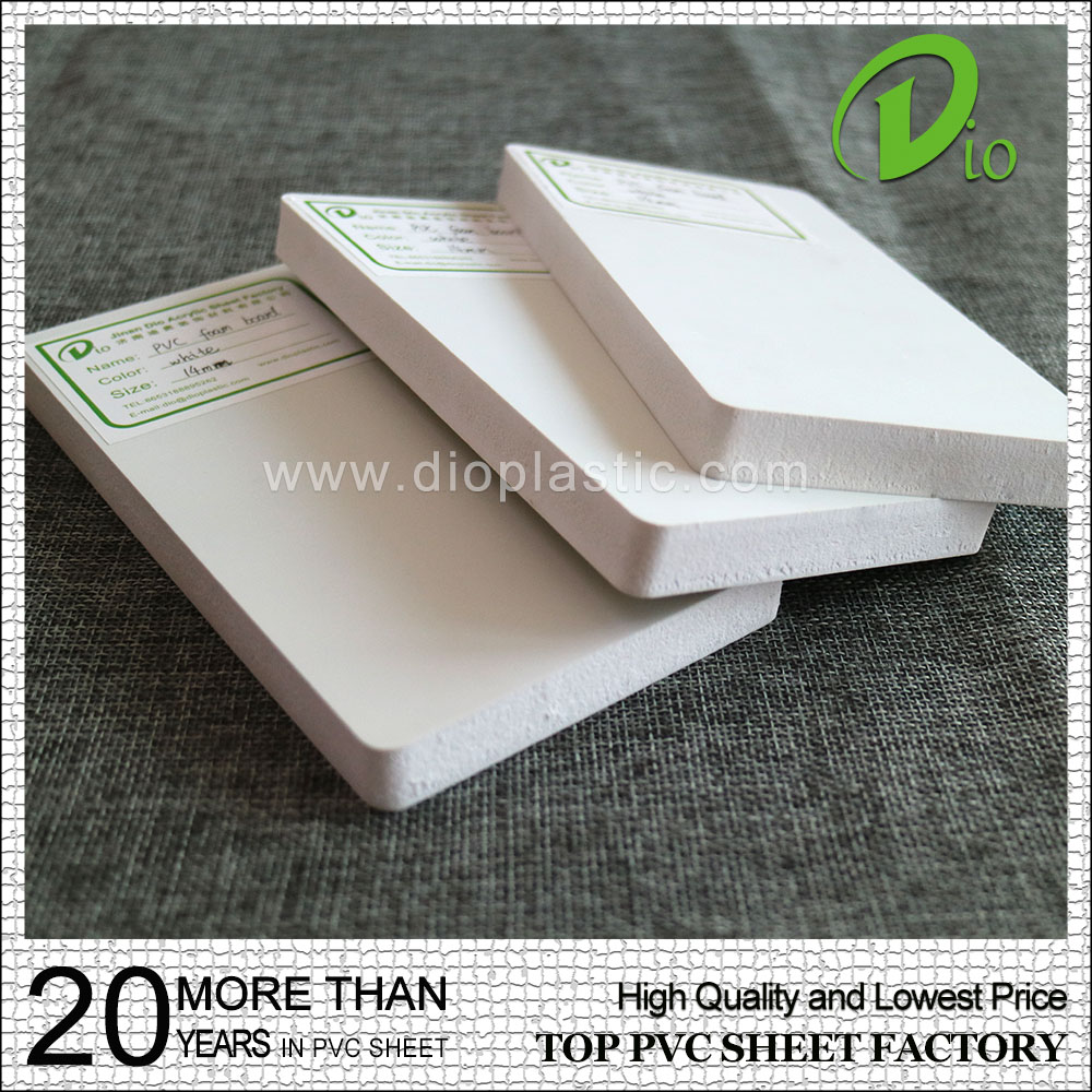 high quality factory wholesale 12mm white high density pvc foam board