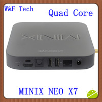 2014 Best Selling minix neo x7 android tv box Rk3188 android 4.2 OS tv box 16gb xbmc minix neo x7