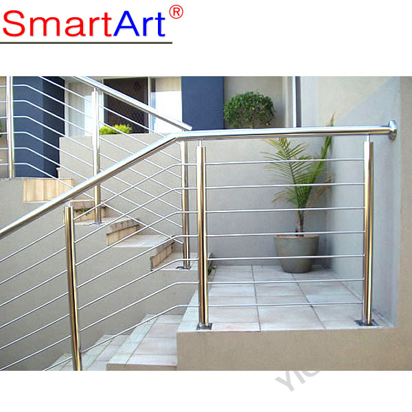 wrought iron stair handrail / stainless steel handrail bracket for sale