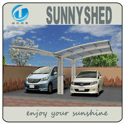 no welding carport for two cars with aluminum alloy polycarbonate