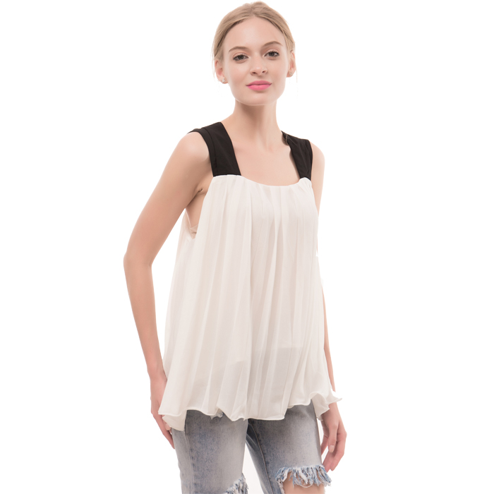 New Sexy Women Spandex / Polyester Crop Tops Cropped Casual Blouse Vest T-Shirt Sleeveless Tank tops