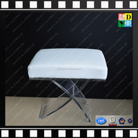 new arrival custom design acrylic stool for shower lucite acrylic bench with cushion transperant acrylic chair with cushion seat