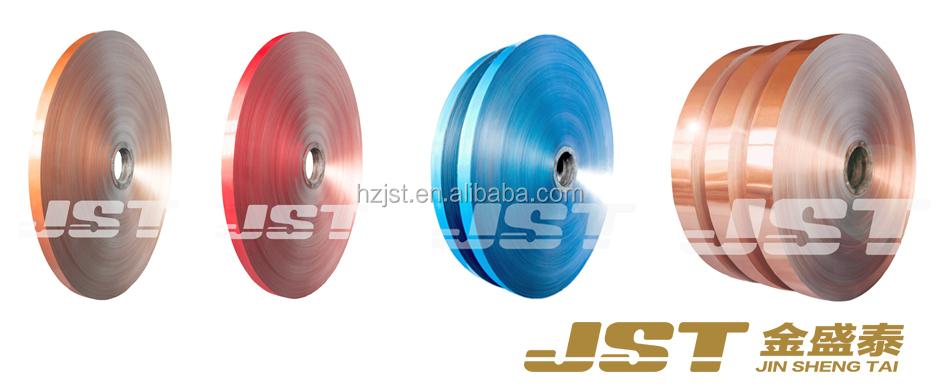 Copper Color Coated Aluminum Laminated Foil Al/pet For Cable Shield ...
