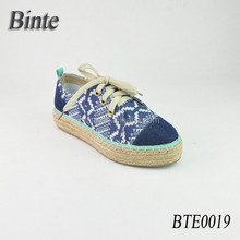 Wholesale Customized Espadrille Line-soled Canvas Shoes 2015