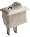 21*15 ON-OFF SPST white Rocker switch with two feets
