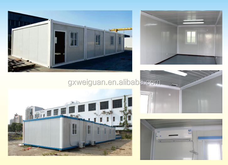 Canam- prefabricated container house/china manufacture cheap prefab homes