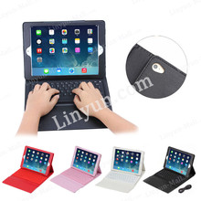 Litchi pattern bluetooth keyboard leather cover case for apple iPad Air 2
