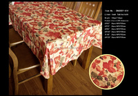 New woven table cloth with polyester fabric