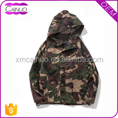 Fashionable Camo Jacket Light Weight Made in China