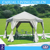 Outdoor Garden Gazebo Canopy with Mesh Insect Screen