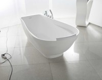 White stone indoor water bath tub