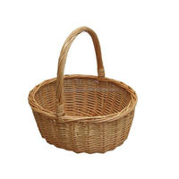Custom handled shopping basket home storage weaving large wicker baskets