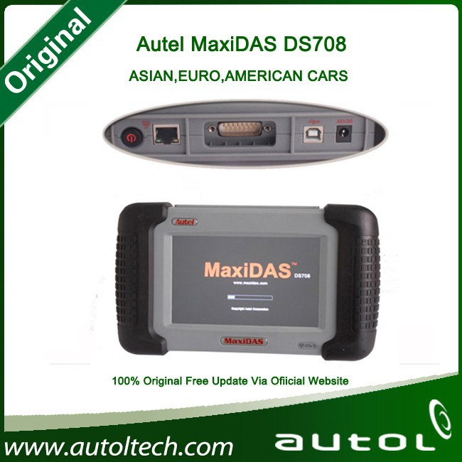 2015 New Autel Maxidas ds708 Original English/Russian Version Autel ds708 One Year Free Update Mini Zed Bull for Free