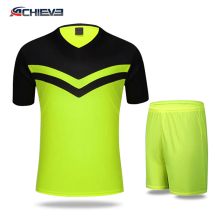 good quality of youth soccer uniforms sets, wholesale soccer referee shirt