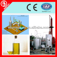 To get base oil, from engine oil recycling machine