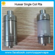 Coppervape 2017 New hussar rta atomizer 22mm diamter single coil hussar 2.0 & 2.5mm Hole