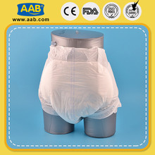 high quality cloth like film care free disposable adult diapers for hospital