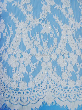 High Quality Beaded Embroidery French Lace/Swiss Embroidery Lace For Wedding Sets