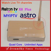 Aston X8 Plus Android IPTV Box Malaysia Pack Watch 190+ Astro Live TV Euro Football Game Indonesia Channels
