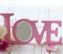 home decor inspirational wooden cutout tabletop display love photo frame