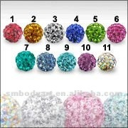 Crystal stone Ball Fixed in Ferido Glue body piercing jewelry