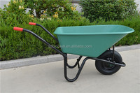high quality deep tray plastic wheelbarrow with square handle