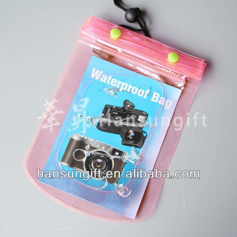 Fashion Underwater Waterproof Case Dry Bag for cell phone, tablet, camera, MP4