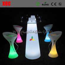 modern round solid surface artificial stone led bar counter /nightclub led bar furniture / cafe led bar table