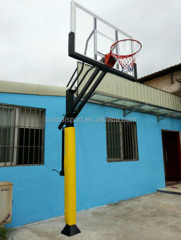 Height adjustable basketball system