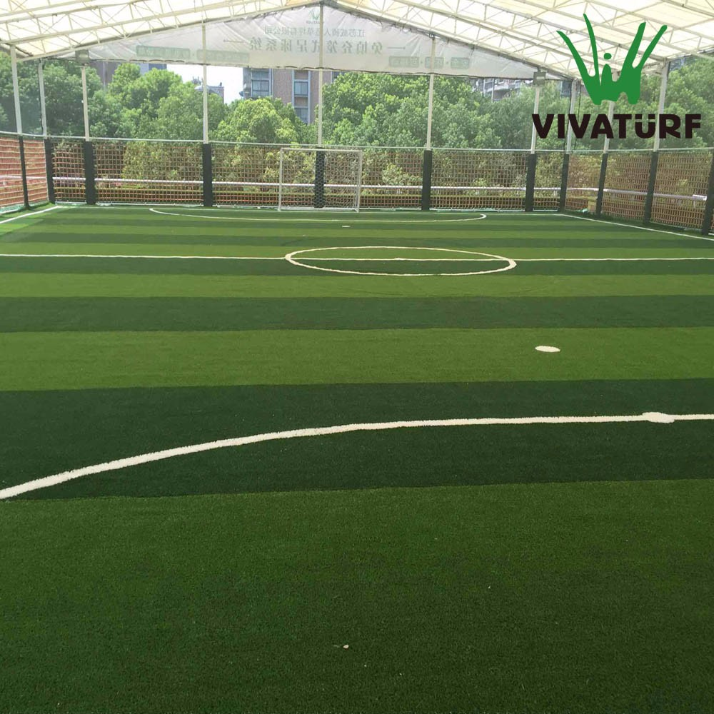VIVATURF Non Infill Indoor Football Field Artificial Grass Mini Soccer Turf
